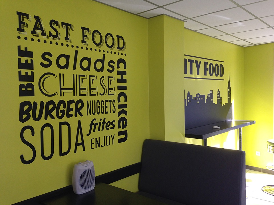 Chic food absolut graphic signal tique lettres for Fast food decoration