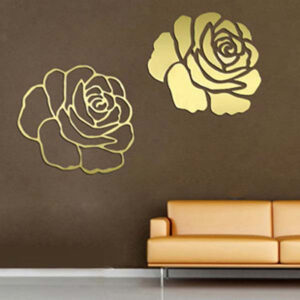 3D-Gold-Rose-Mirror-Sticker
