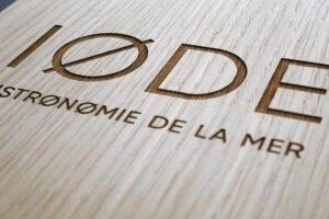 menu, restaurant, gravure bois